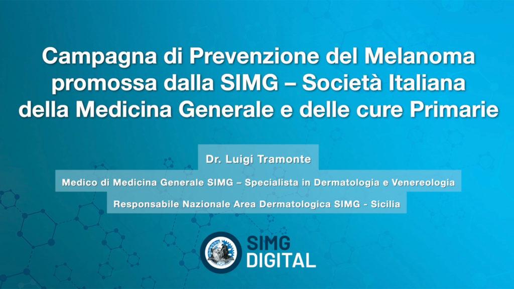 SIMG – CAMPAGNA DI PREVENZIONE DEL MELANOMA 2021