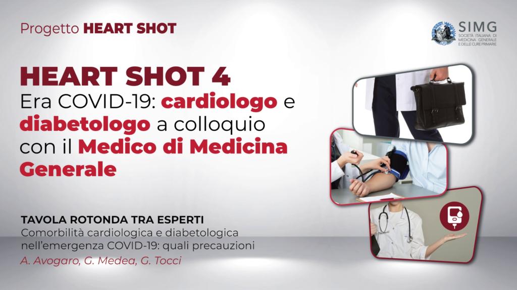 HEART SHOT 4 – Era COVID-19: cardiologo e diabetologo a colloquio con il Medico di Medicina Generale